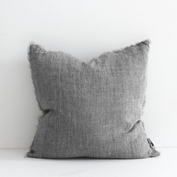 Keaton Cushion - Navy/Natural