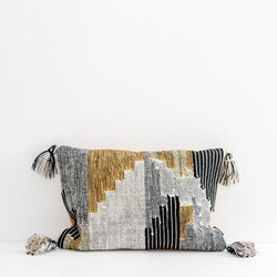 Keita Cushion - Grey/Ochre