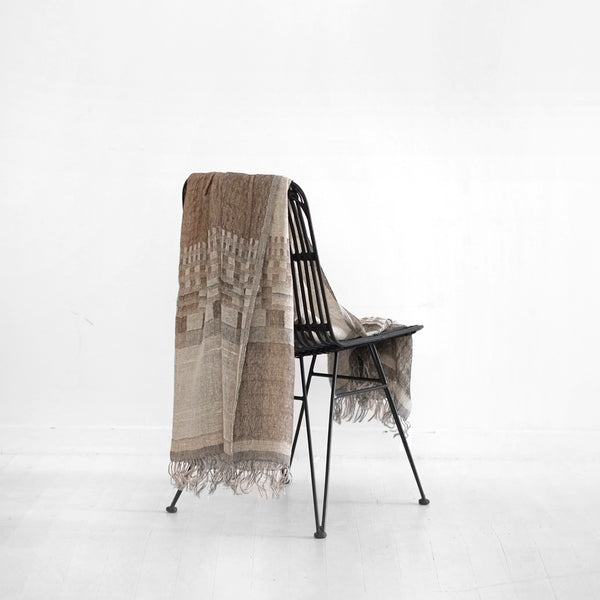 Kele Wool/Silk Throw - Gravel