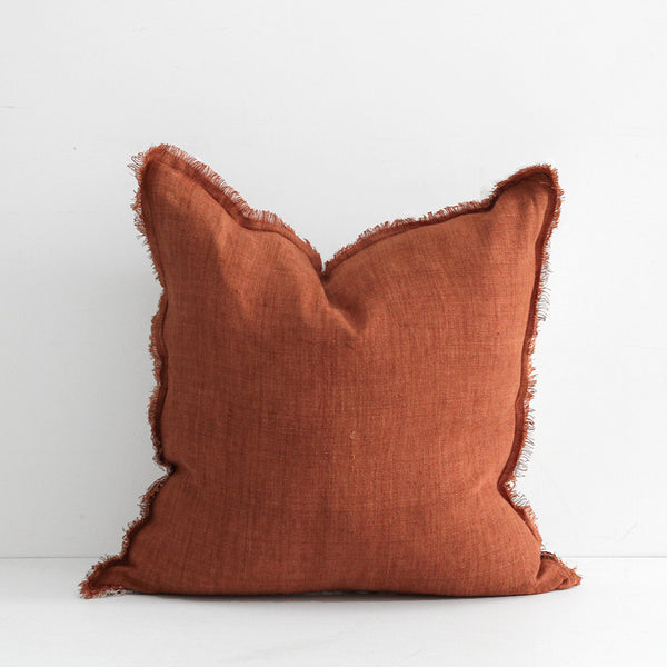 Kendall Cushion - Tobacco/Ivory