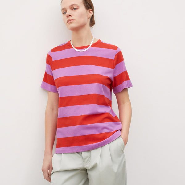 Classic Tee - Red Purple Stripe