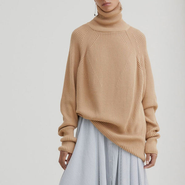Henri Roll Neck Jumper - Camel