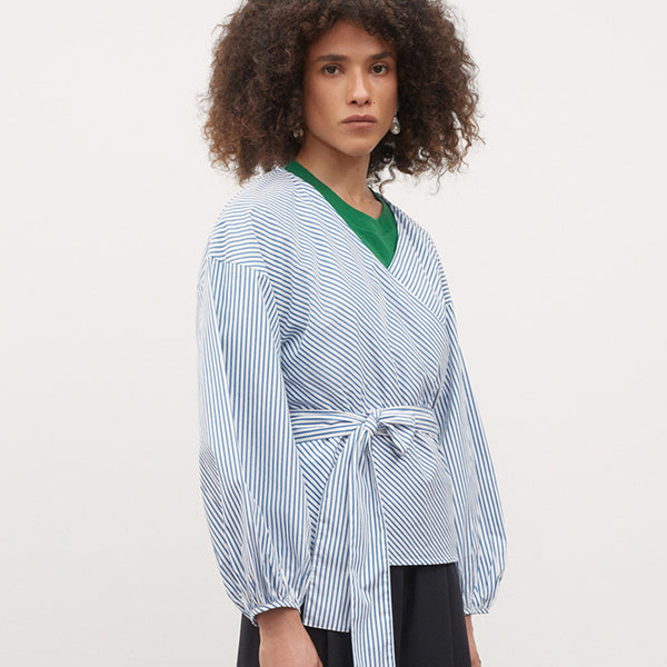 Journey Wrap Top - Stripe