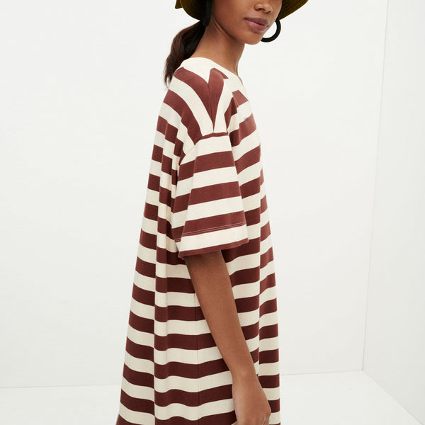 Long T-Shirt Dress - Mahogany
