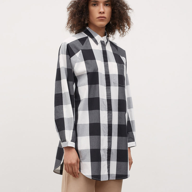 Oversized Shirt - Black And White Check