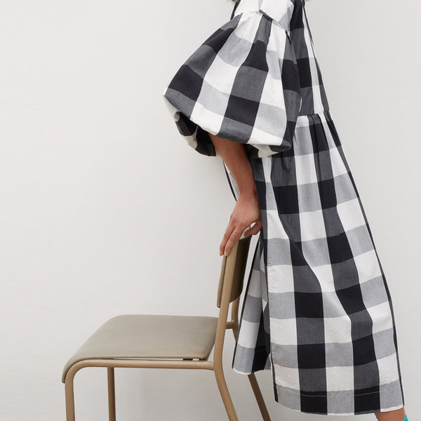 Yoshi Dress - Black And White Check