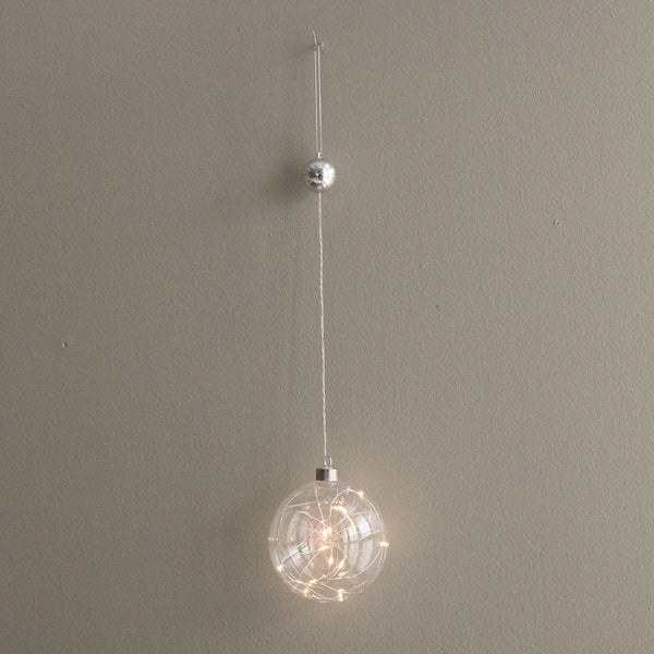 Sphere Hanging Clear Glass Light