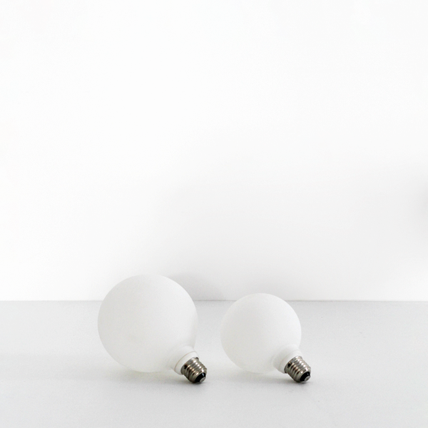 LED White Frosted Globe -125mm