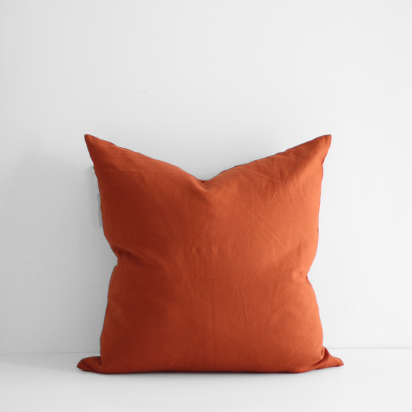 A&C Linen Large Cushion - Paprika