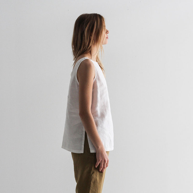 Lauren Linen Tank - Off White