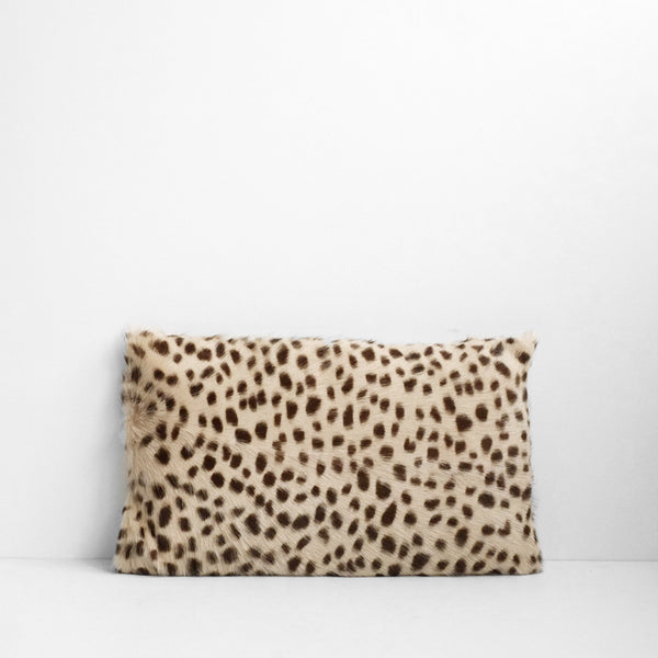 Leopard Goat Fur Cushion - Small