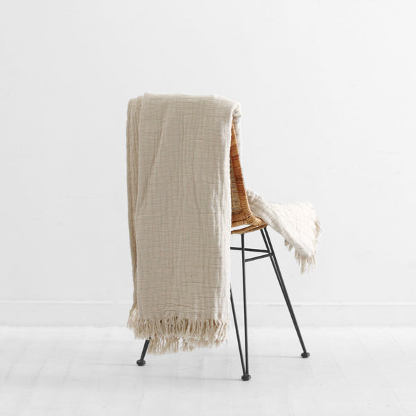 Lindis Linen Throw - Oatmeal