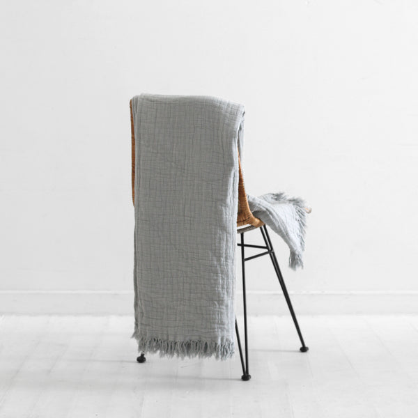 Lindis Linen Throw - Quarry