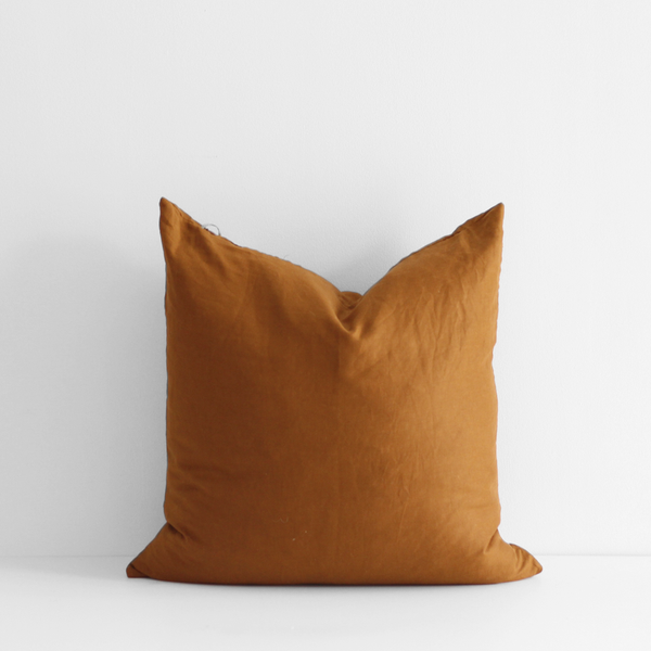 A&C Linen Large Cushion - Ochre