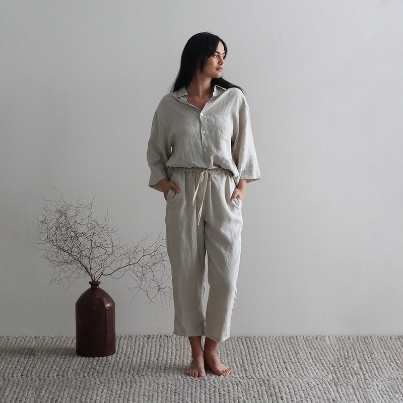 A&C Linen Lounge Pants - Oyster