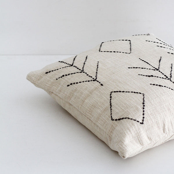 Madam Aztec Cushion-Off White