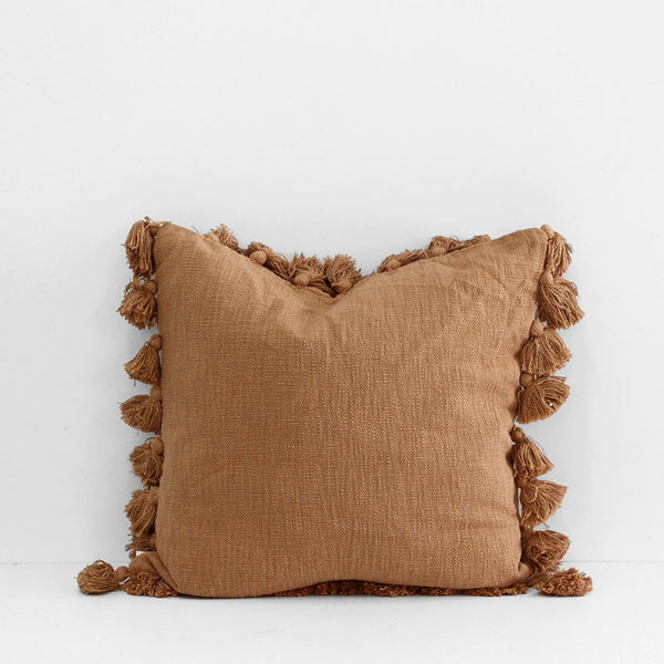 Madam Tassle Cushion - Brown Sugar