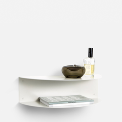 Fold Bedside Table - White