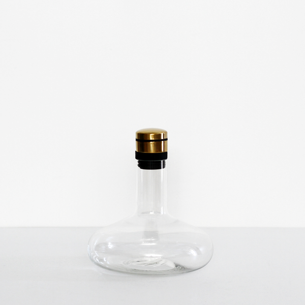 Menu Wine Breather Deluxe - Clear Brass