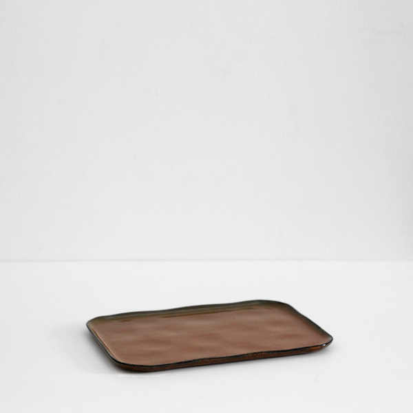 Merci Rectangular Plate - XL Ochre Brown