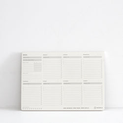 MiGoals Weekly Desk Pad - A4  White