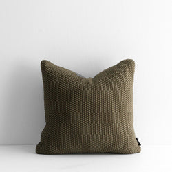 Milford Moss Stitch Cushion - Mangrove