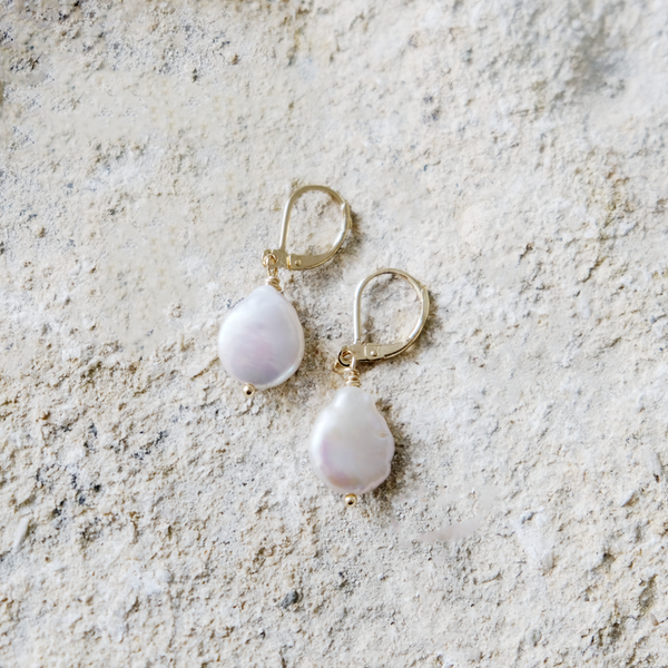 Mini Keshi Pearl Earrings