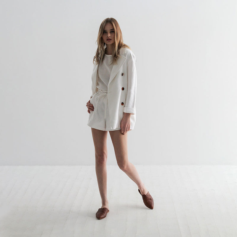 Mitchell Linen Blazer - Off White