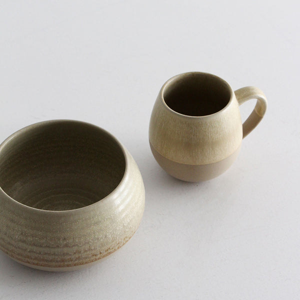 Morning Hugs - Sage Bowl and Mug Set