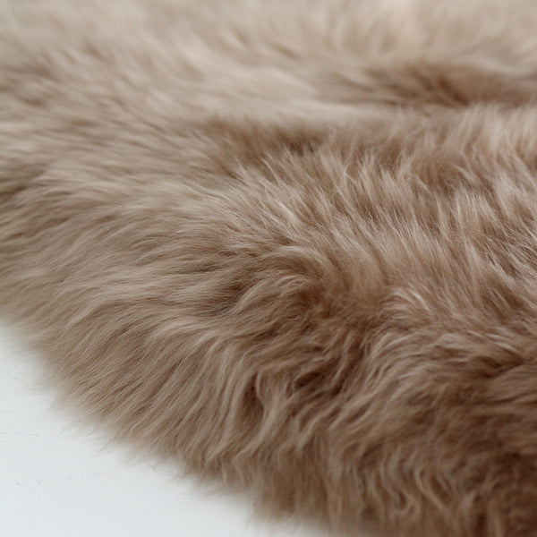 New Zealand Long Wool Sheepskin Rug- Warm Sand