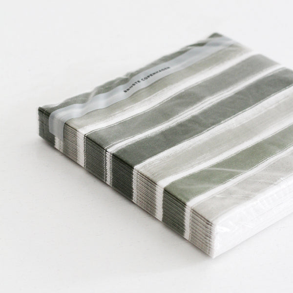 Napkins - Stripes Green