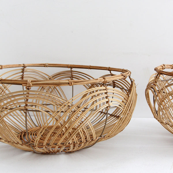 Natural Round Rattan Basket