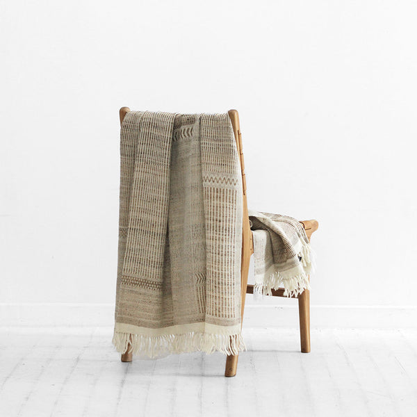Navajo Throw - Straw Off White