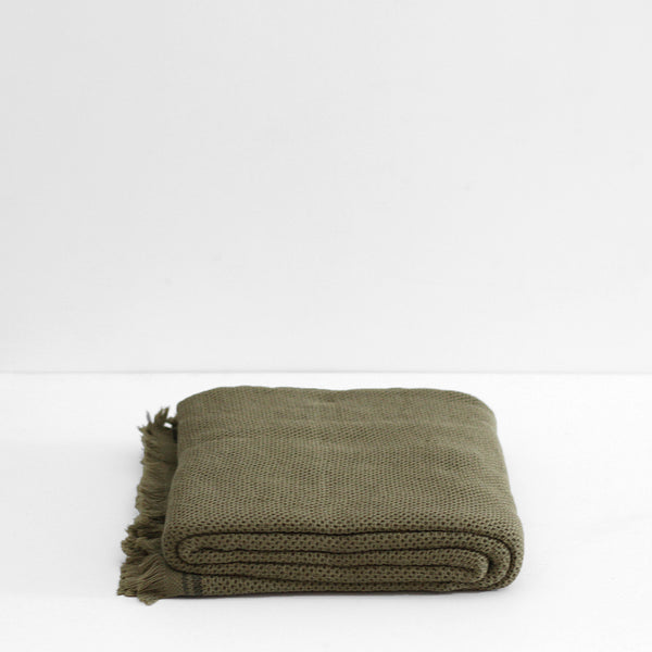 Nurture Throw - Olive
