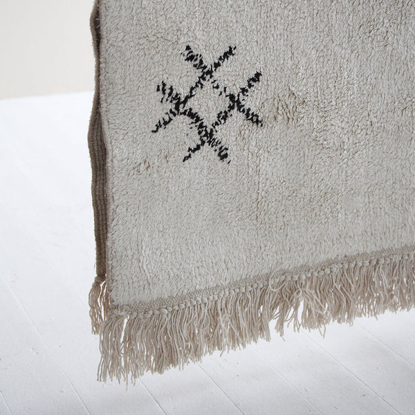 Ombo Rug - Black/Natural White