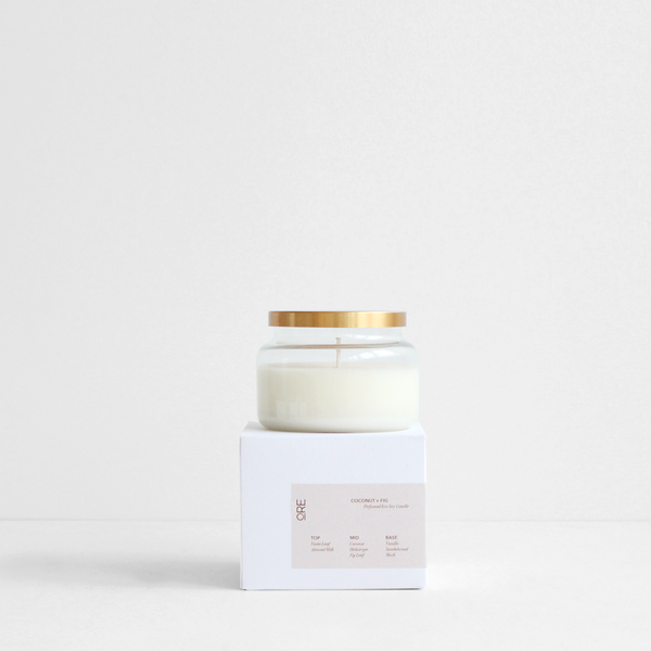 ORE Design Soy Candle with Brass Lid - Coconut & Fig