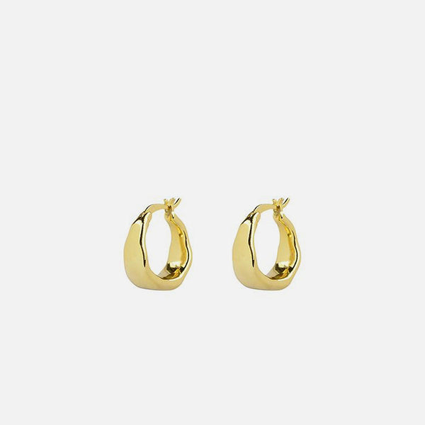Organica Curved Earrings - Gold