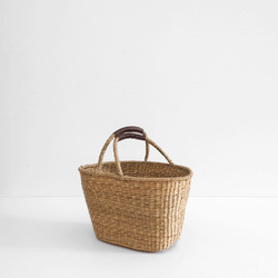 Oval Shopper Bag with Drop Handles