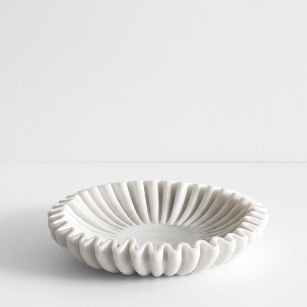 Pleat Marble Dish - Large