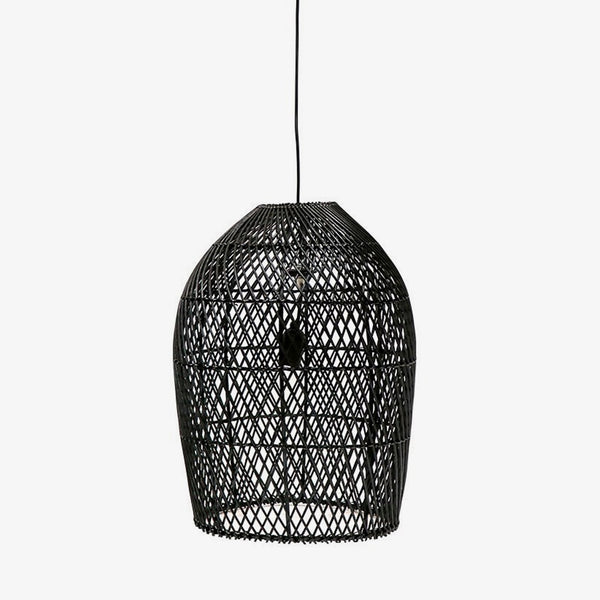 Rattan Lattice Pendant Black - Large