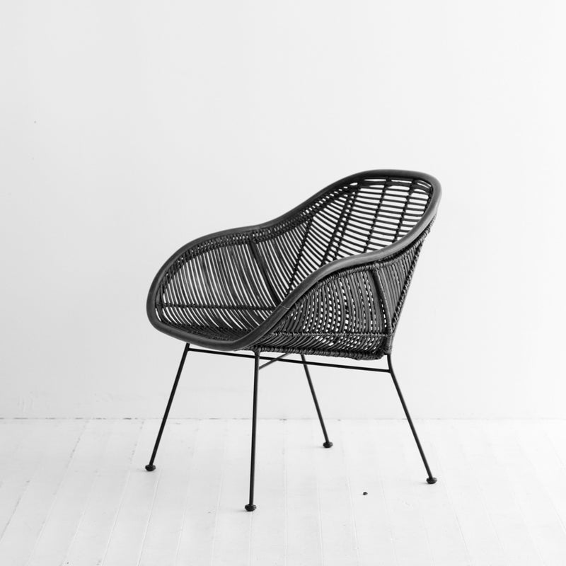 Retro Armchair | Black