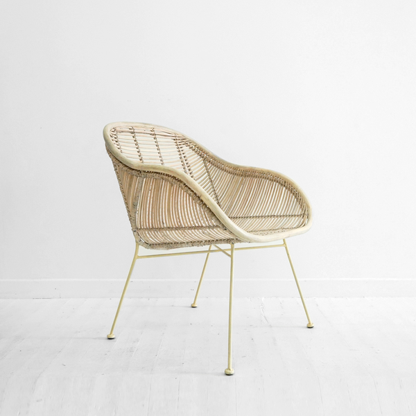 Retro Armchair | Whitewash