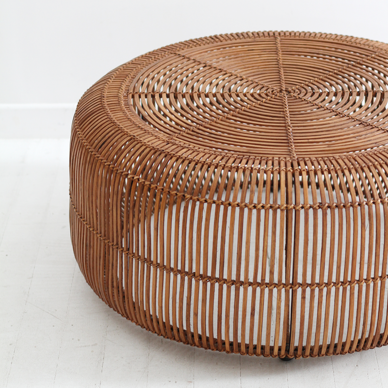 Retro Round Coffee Table - Pale Honey
