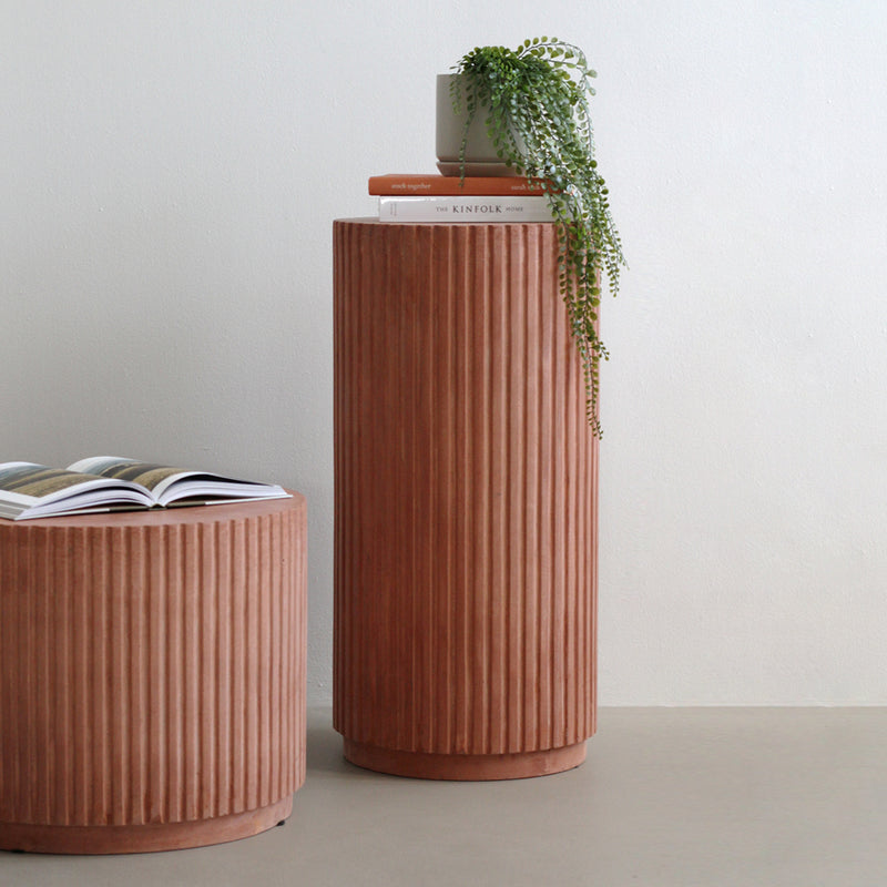 Broste Rillo Podium - Terracotta
