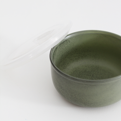 Ceramic Round Travel Container - Selby Green