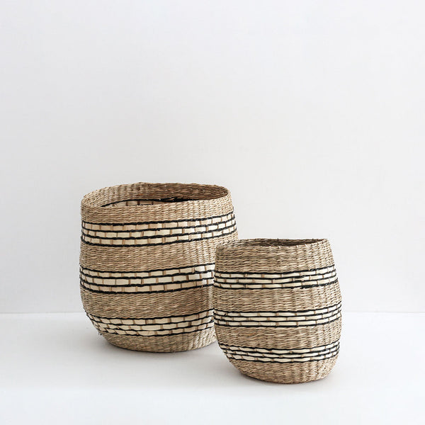 Rona Striped Basket - set of 2