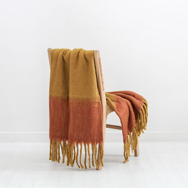 Rustic Striped Throw