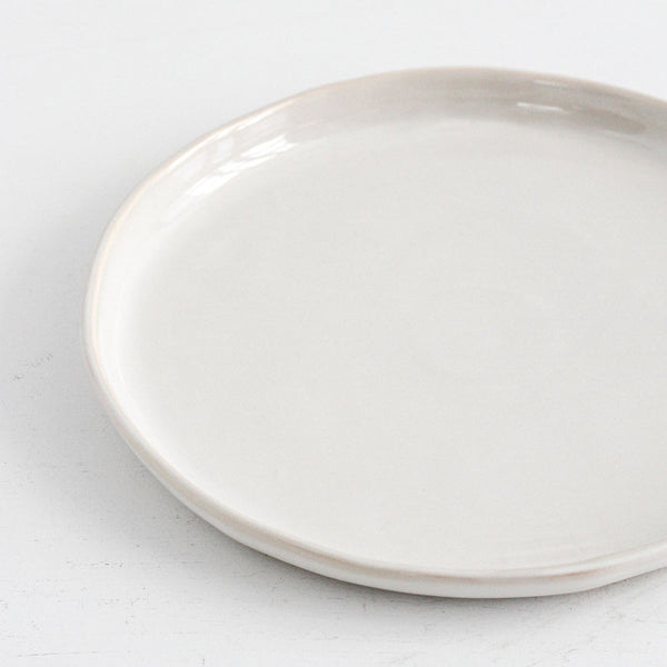 Rustic White Large Dinner Plate