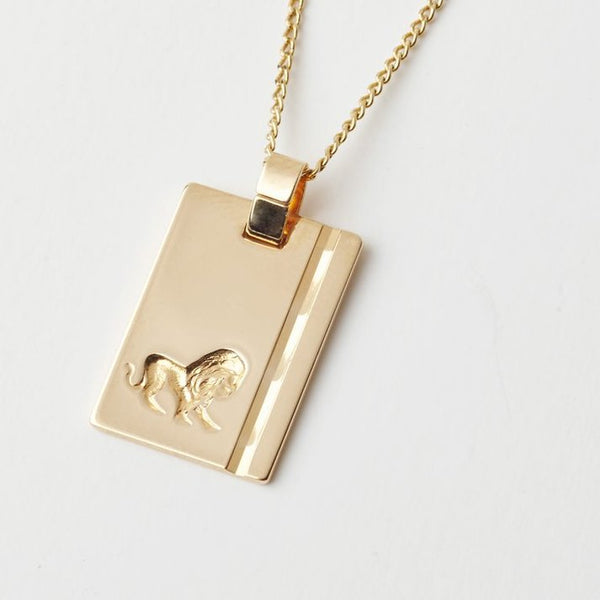 Leo Star Sign Pendant Necklace
