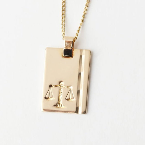 Libra Star Sign Pendant Necklace